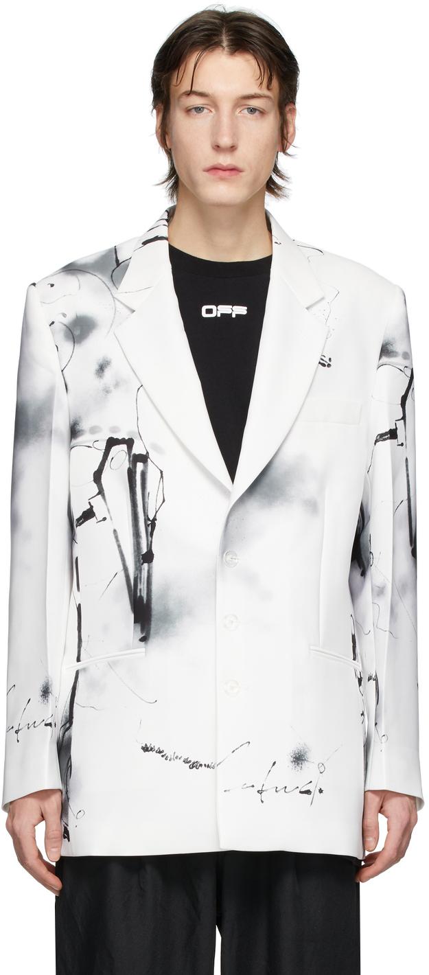 Off-White White Futura Abstract Blazer