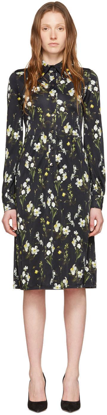 Erdem Black Tullio Dress