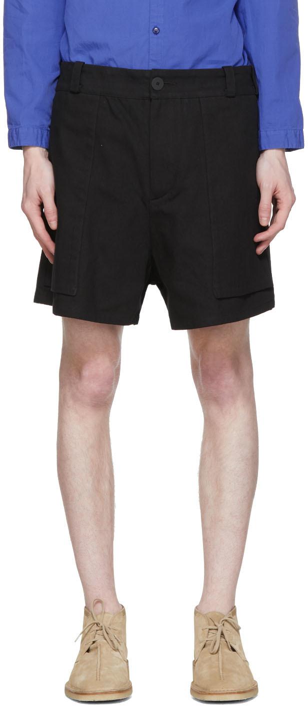 Toogood Black 'The Bricklayer' Shorts