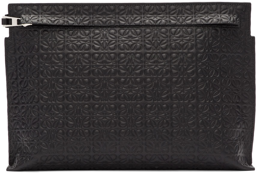 Loewe Black T Repeat Pouch