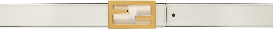 Fendi Reversible White & Brown 'Forever Fendi' Belt