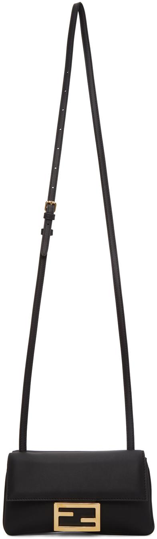 Fendi Black Mini Baguette Wallet Bag