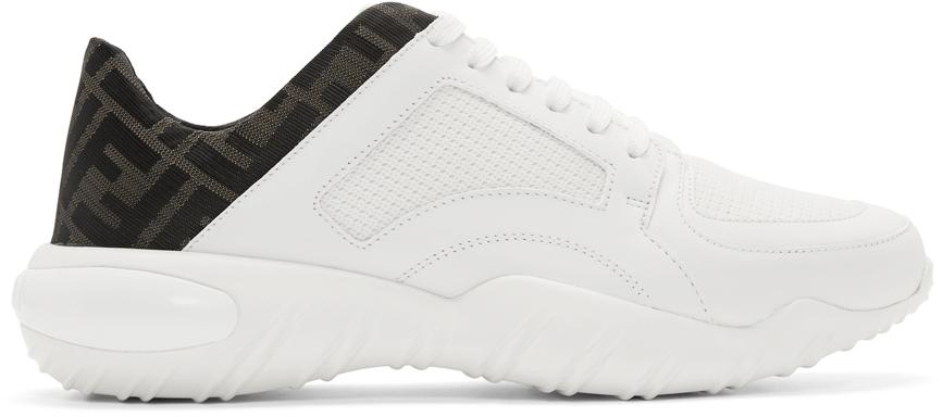 Fendi White Mesh 'Forever Fendi' Sneakers