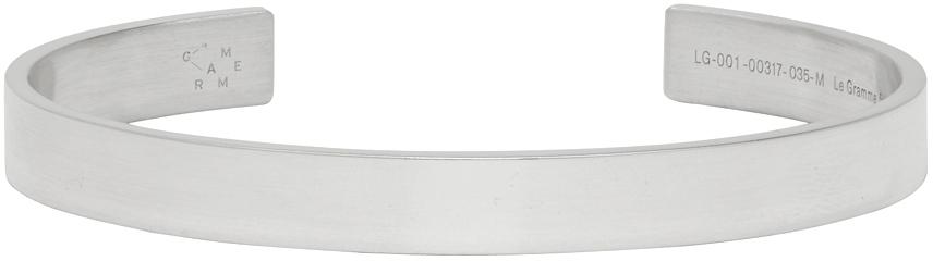 Le Gramme Silver Polished 'Le 21 Grammes' Ribbon Bracelet
