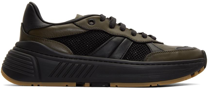 Bottega Veneta Green & Black Speedster Sneakers