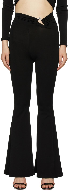 Unravel Black Knit Triangle Lounge Pants
