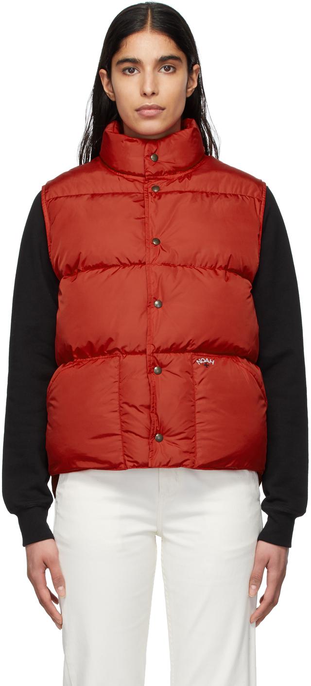 Noah Red Cashball Down Puffer Vest