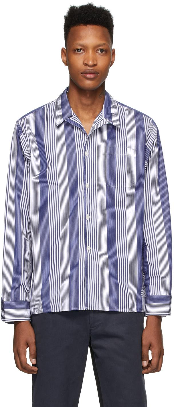 Noah Navy & White Pajama Shirt
