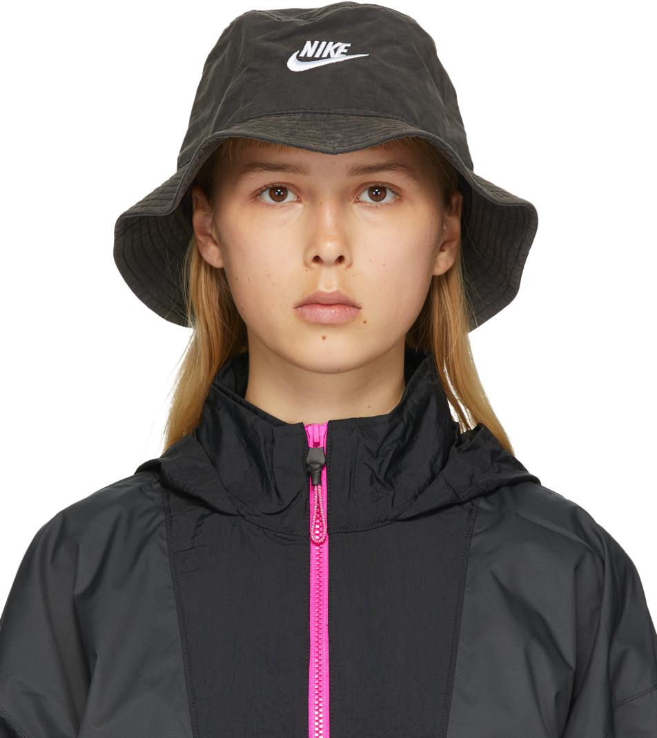 Nike Black Washed NSW Bucket Hat