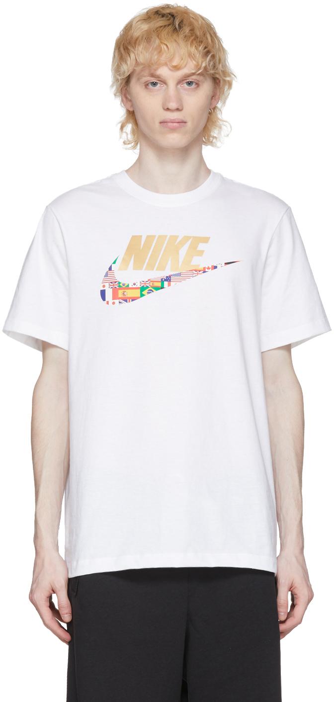 Nike White Sportswear Preheat Swoosh T-Shirt