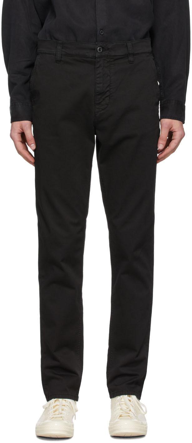 Nudie Jeans Black Easy Alvin Trousers