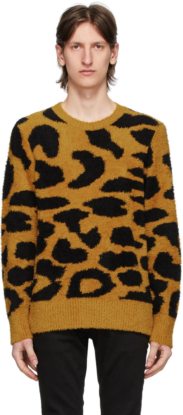 Nudie Jeans Yellow Leopard Hampus Sweater