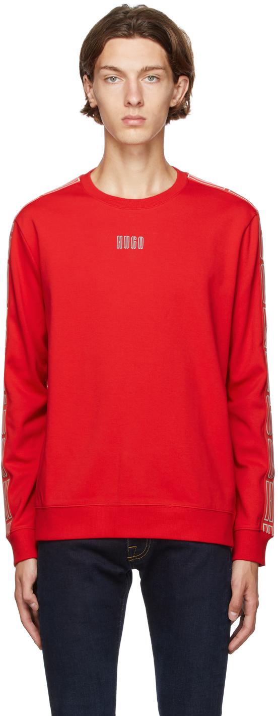 Hugo Red Doby Sweatshirt