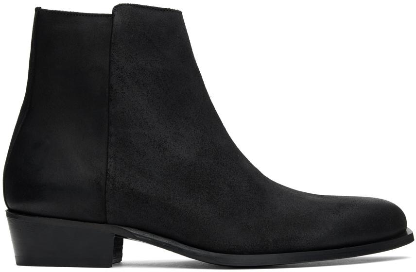 Hugo Black Prestige Zip Boots