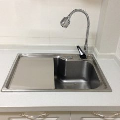 Kitchen Sink 33 X 22 German Made Cabinets 正宗304食品級不鏽鋼洗菜盆蓋板揉面板廚房水槽洗碗水池切菜板 非常勸敗 非常勸敗verybuy網友推薦開團 1993615