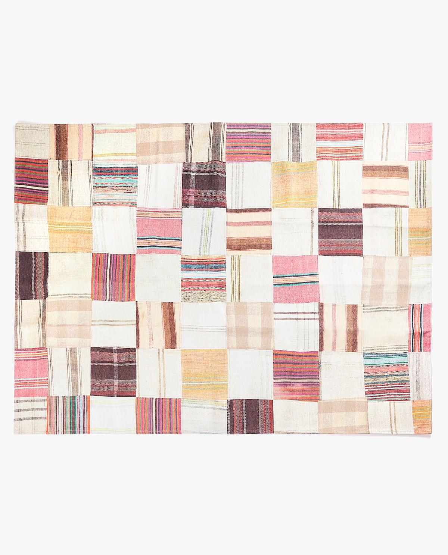 tapis tresse en laine multicolore 160 x