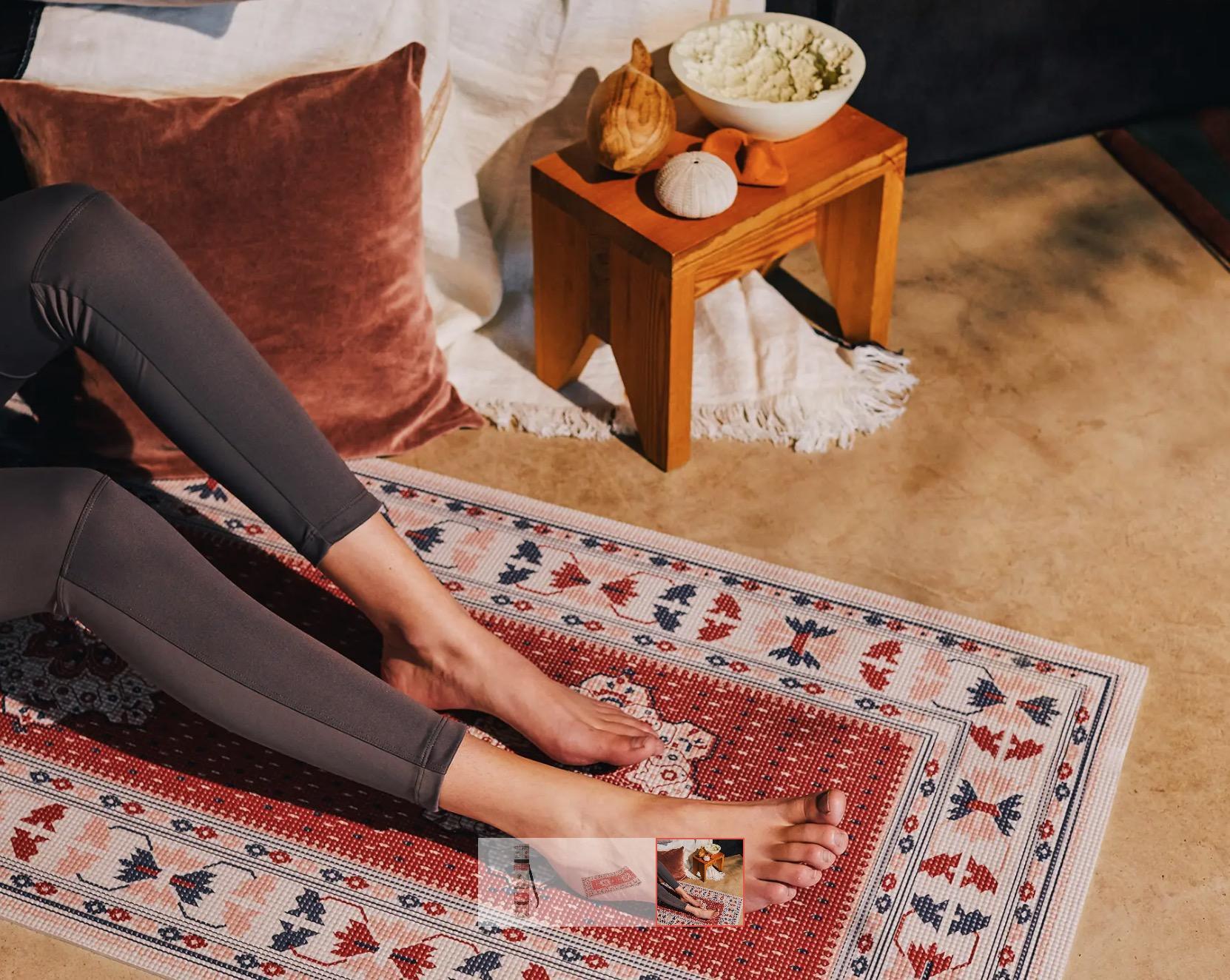 banc de yoga en hetre decathlon