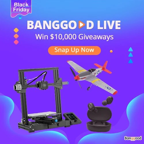 Black Friday Banggood Live Win $1,0000 Giveaways