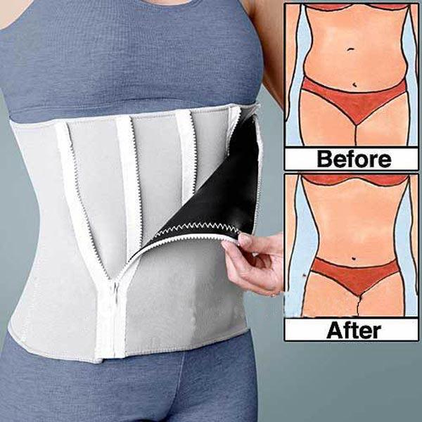 Body Shaping Closed Belt Waist Shaper Corset Zipper Girdle
