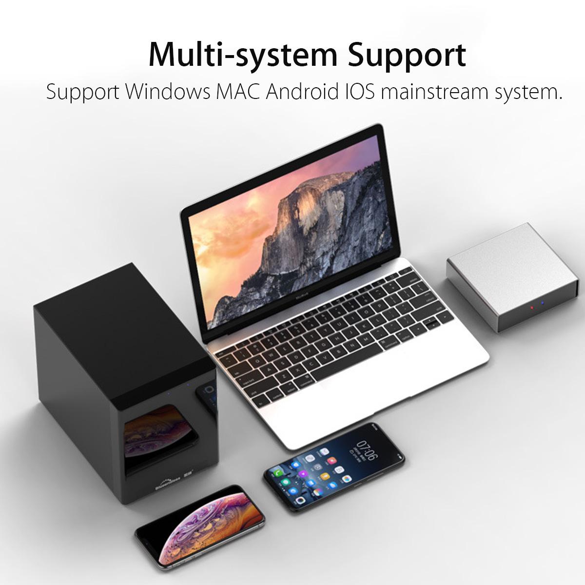 Blueendless X3 Single-Bay USB 3 0 NAS Gigabit Network Storage Cloud Drive  for 2 5 SATA Hard Drive HDD Enclosure