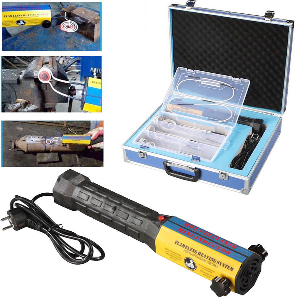 1000W 220V/110V Mini Ductor Induction Heater Hand Heldhigh Frequency with 6 Coils Kits 33