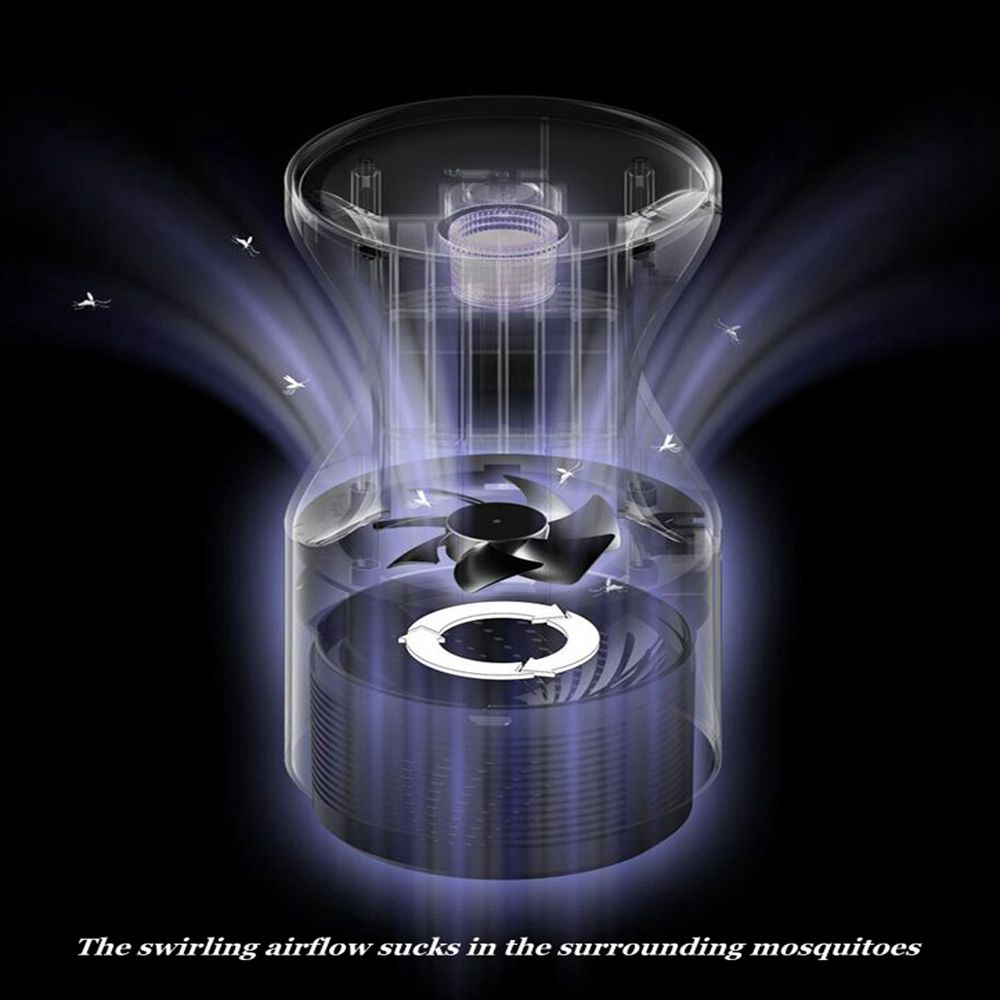 USB Noiseless Powered LED UV Insect Killer Lamp Mosquito