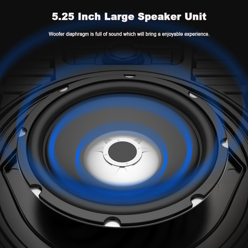 Bakeey Wireless Bluetooth Speaker Kalaoke Colorful Light Stereo TF Card FM Radio Portable Speaker 10