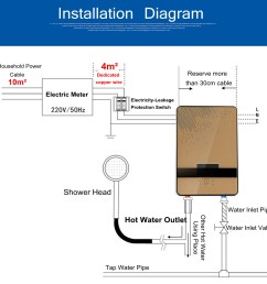 6500w 220v tankless instant electric hot water heater boiler hot water heater wiring diagram 220v [ 1200 x 1200 Pixel ]