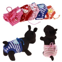 Female Pet Dog clothes Pet Puppy Cotton Tighten Strap ...