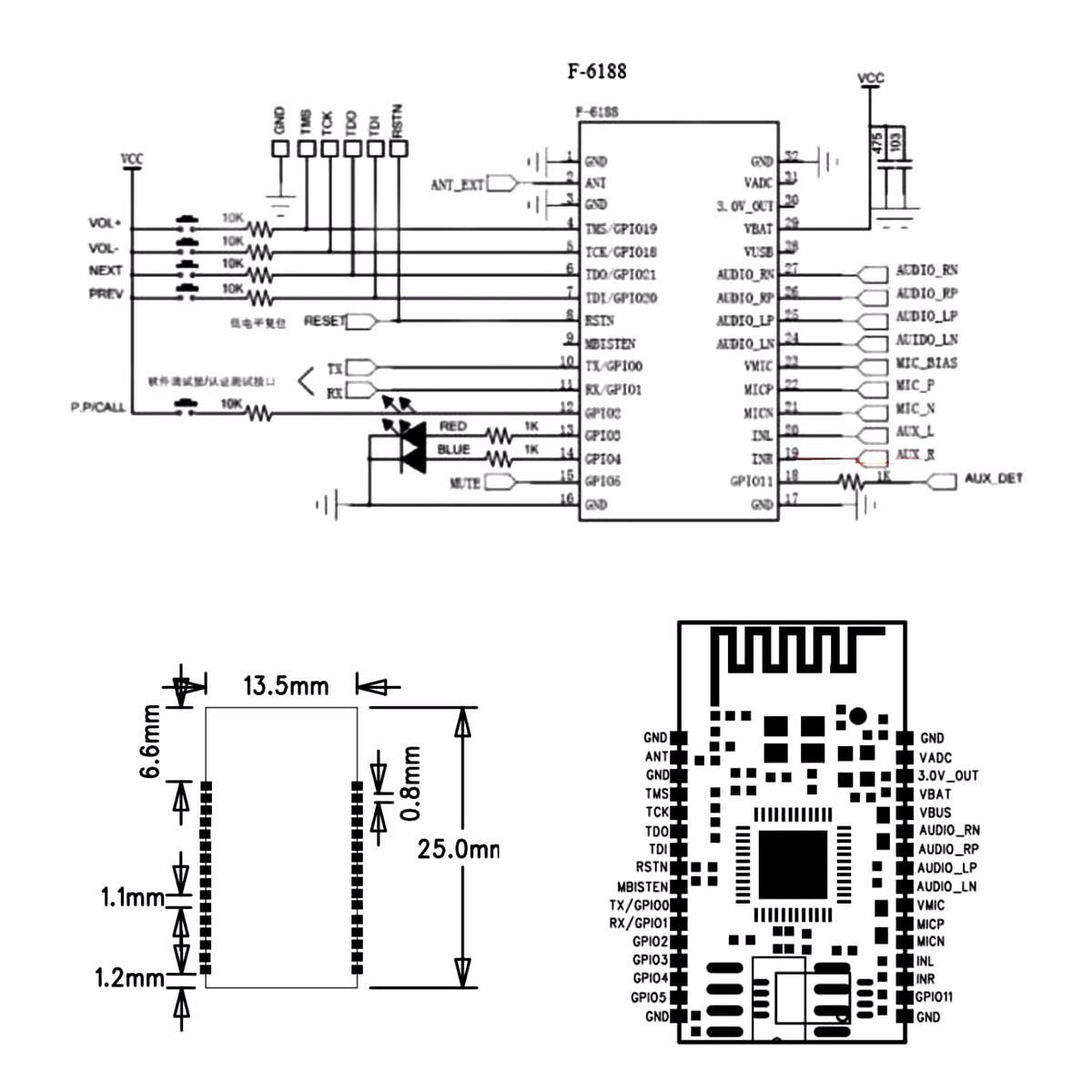 Bk L Drahtlose Bluetooth Stereo Audio Modulubertragung