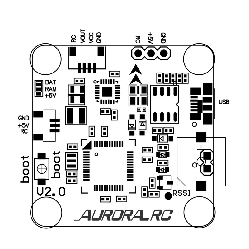 AuroraRC C3 Flytower Omnibus F3 Flight Controller AIO BL_S