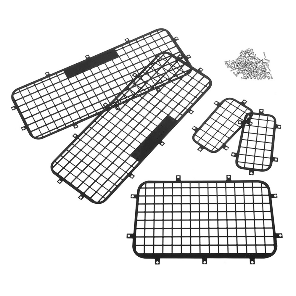 Stainless Side+Rear Window Mesh Guard For 1/10 Traxxas TRX