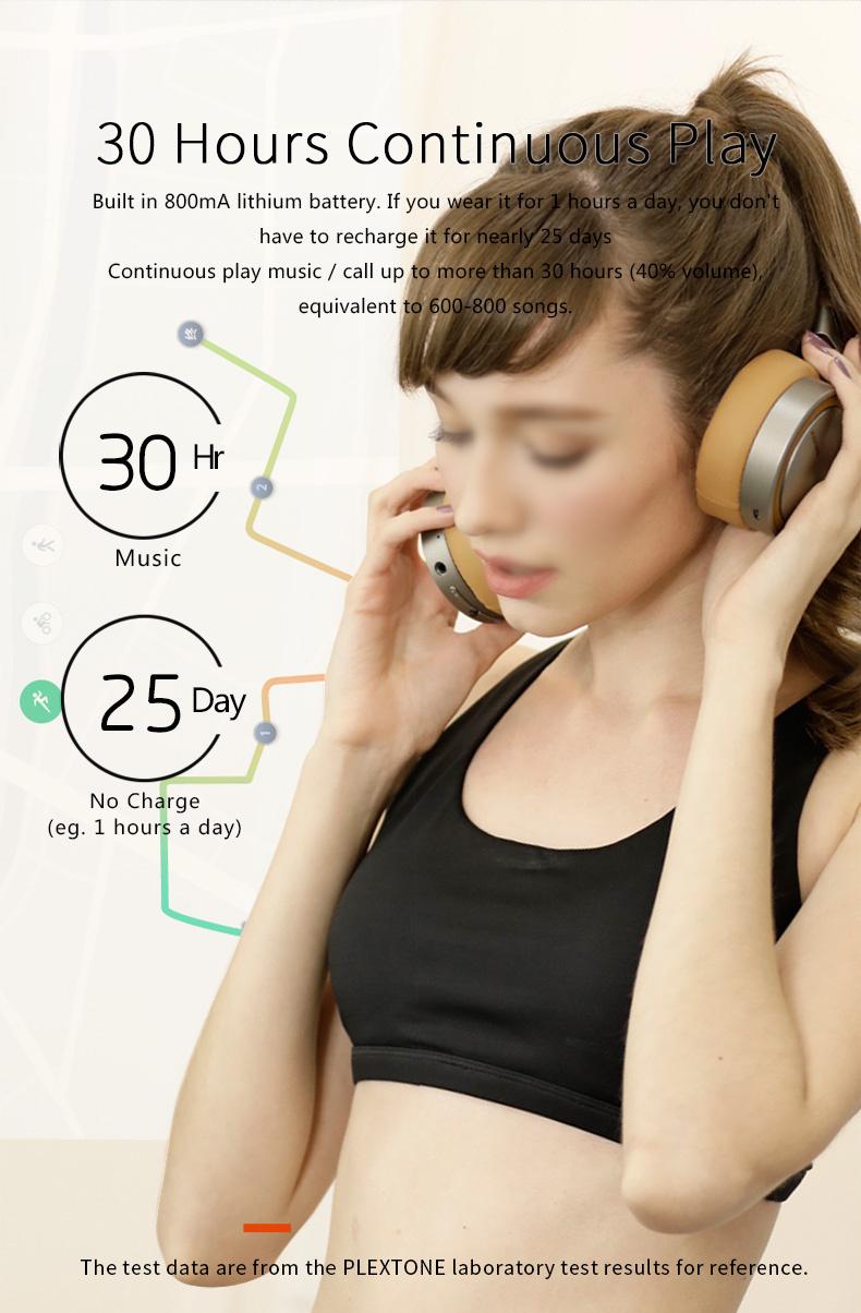 Plextone BT270 Wireless Bluetooth Headphone 800mAh 8G RAM MP3 Heavy Bass Headset for iPhone Samsung 11
