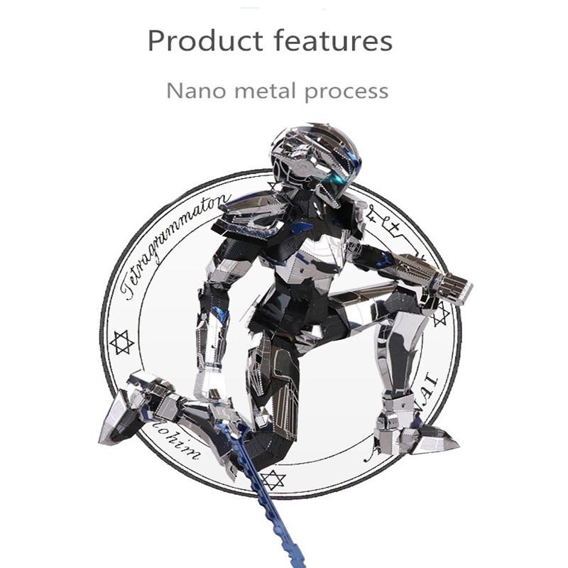 Mu Diy Puzzle 3D Metal Robot Model Building 165 * 100