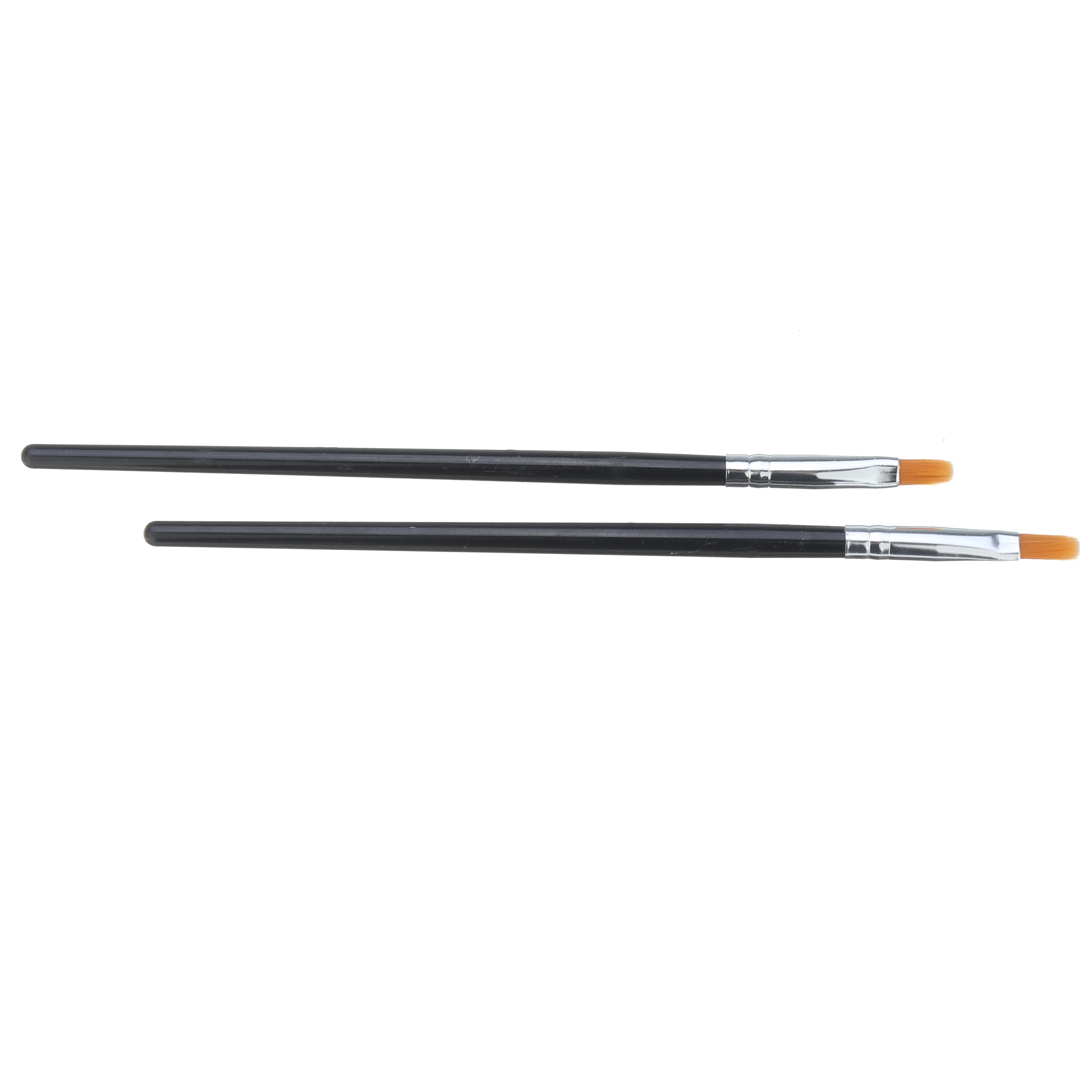 2Pcs Model Color Pen Flat Brush Hand Painting Tools for