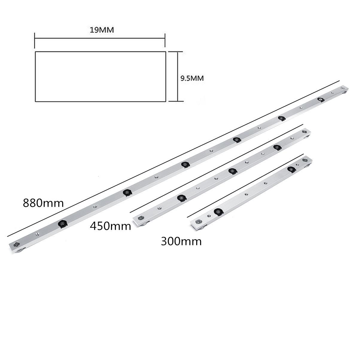 300 450 850 880mm Aluminum Alloy Rail Miter Bar Slider Table Saw Gauge Rod Miter Gauge