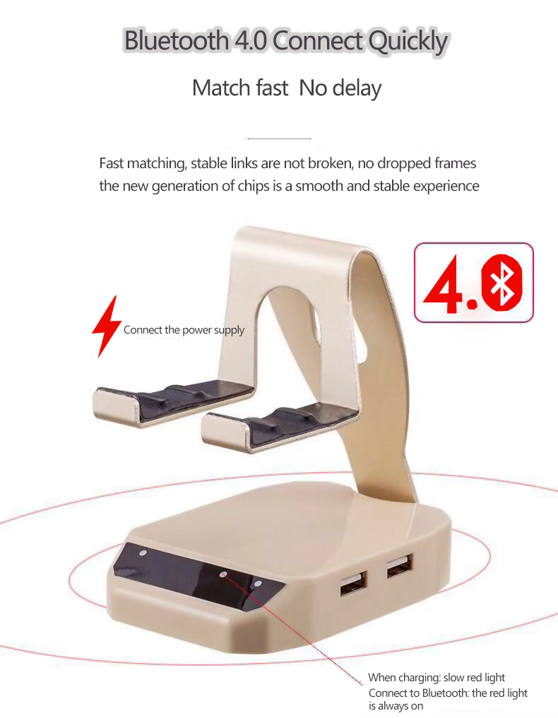 D9 Bluetooth4 0 Keyboard Mouse Converter Station With Phone Holder