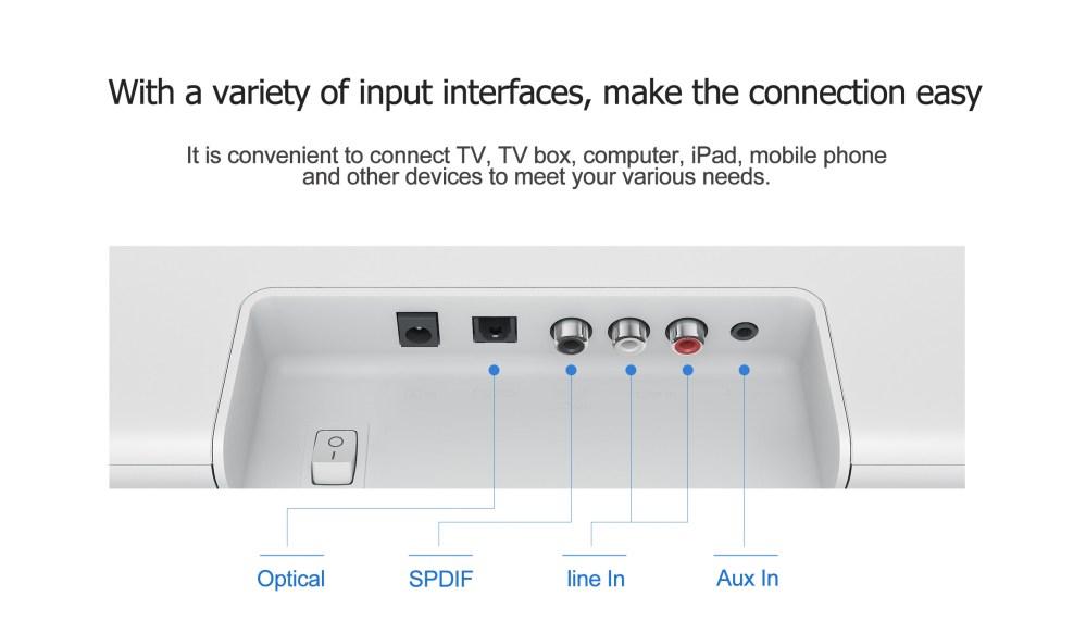 medium resolution of original xiaomi 33 inch tv soundbar wired and wireless bluetooth audio speaker 8 speakers