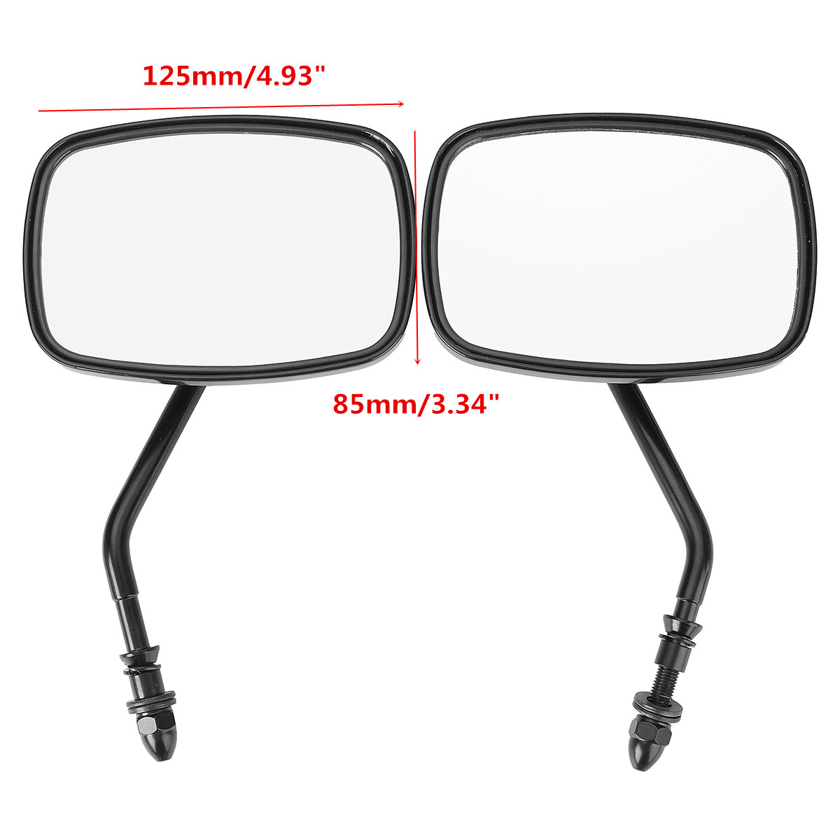 New Pair Rear View Side Mirrors Motorcycle Bike Universal