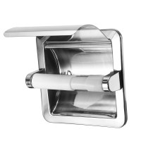 Recessed Toilet Paper Roll Holder Tissue Brushed Nickel