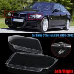 Left Right Clear Car Headlight Lamp Lens Shell Cover For Bmw 3 Series E90 2006 2012