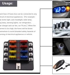 imars 8 way fuse box 12v 32v circuit standard blade block holder kit car caravan [ 1500 x 1500 Pixel ]