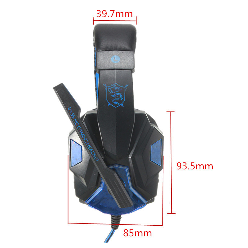 USB 3.5mm LED Surround Stereo Gaming Headset Headbrand Headphone With Mic 12