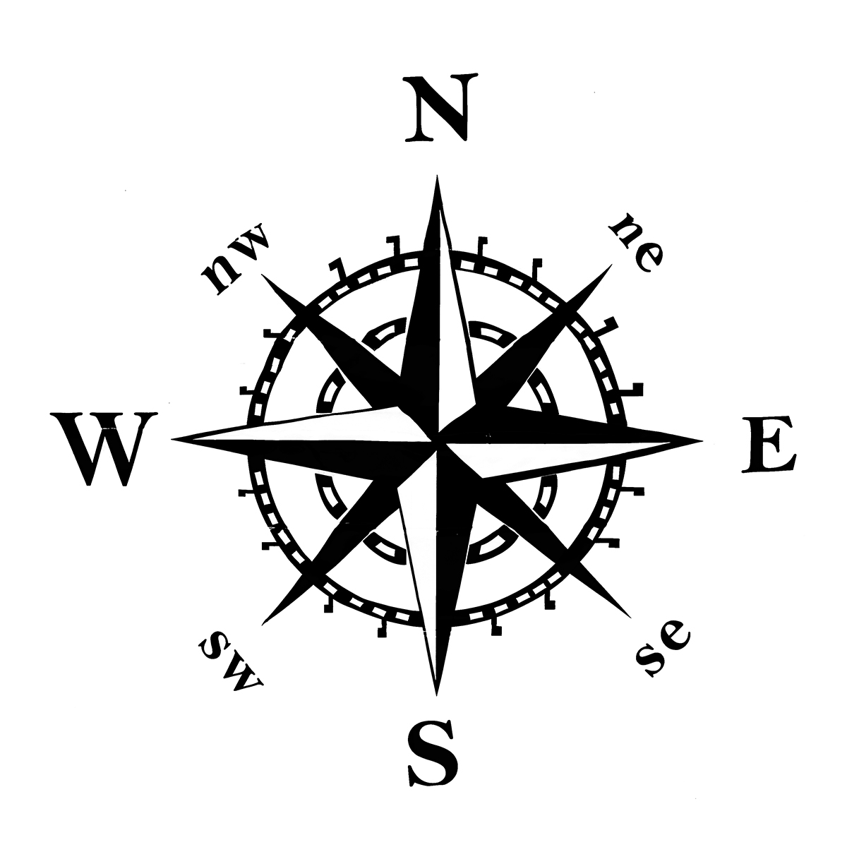 New 50x50cm Compass Pattern Car Hood Stickers Vinyl Decals