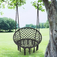 Hanging Chair Qatar Hideaway Sleeper Outdoor Hammock Camping Mesh Single Swing Cushion Max Load Bearing 120kg