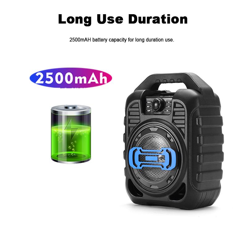 Bakeey Wireless Bluetooth Speaker Kalaoke Colorful Light Stereo TF Card FM Radio Portable Speaker 14