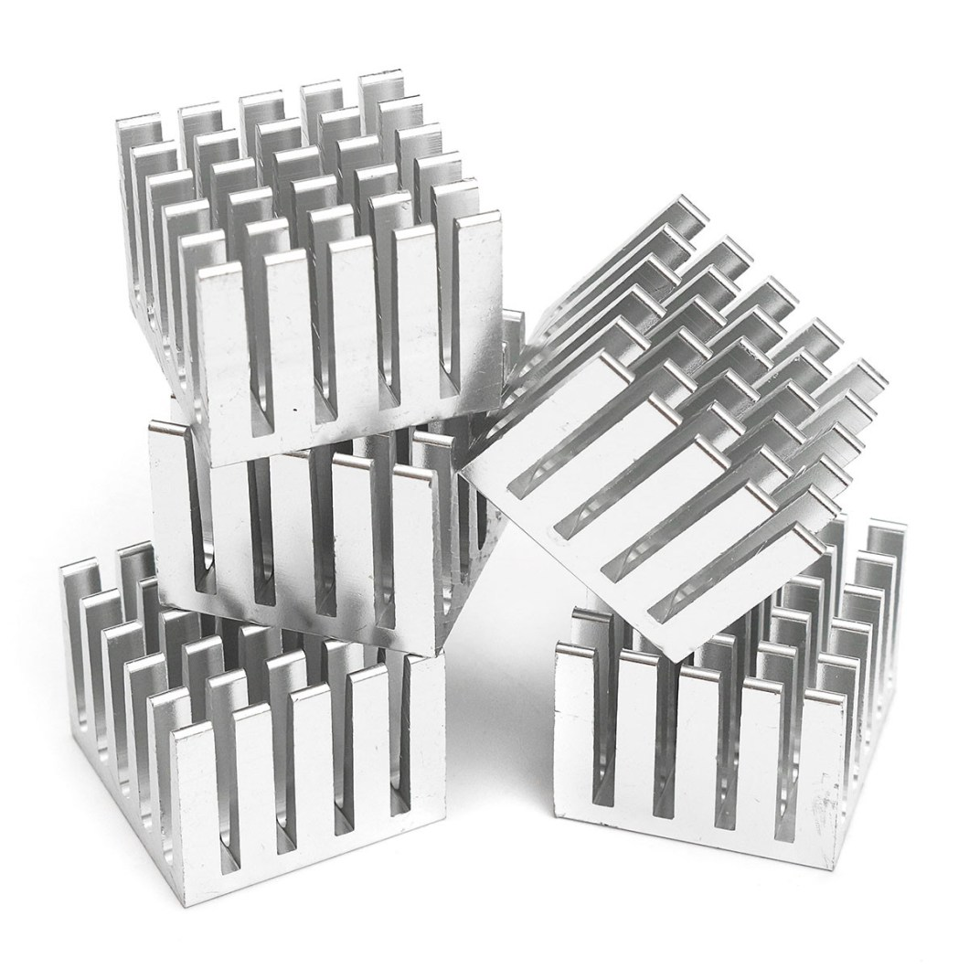 20pcs 20x20x15mm DIY CPU IC Chip Heat Sink Extruded Cooler Aluminum Heat Sink 22