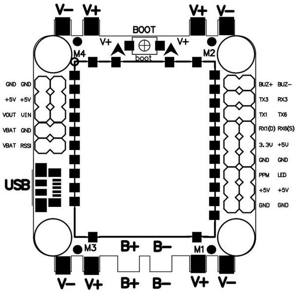 9g 30.5x30.5mm Omnibus F4 Flight Controller AIO OSD 5V BEC