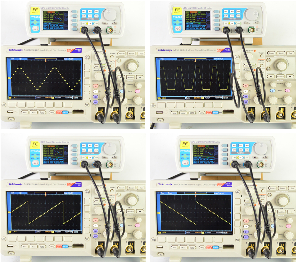 FY6800 2-Channel DDS Arbitrary Waveform Signal Generator 14bits 250MSa/s Sine Square Pulse Frequency Meter VCO Modulation 34