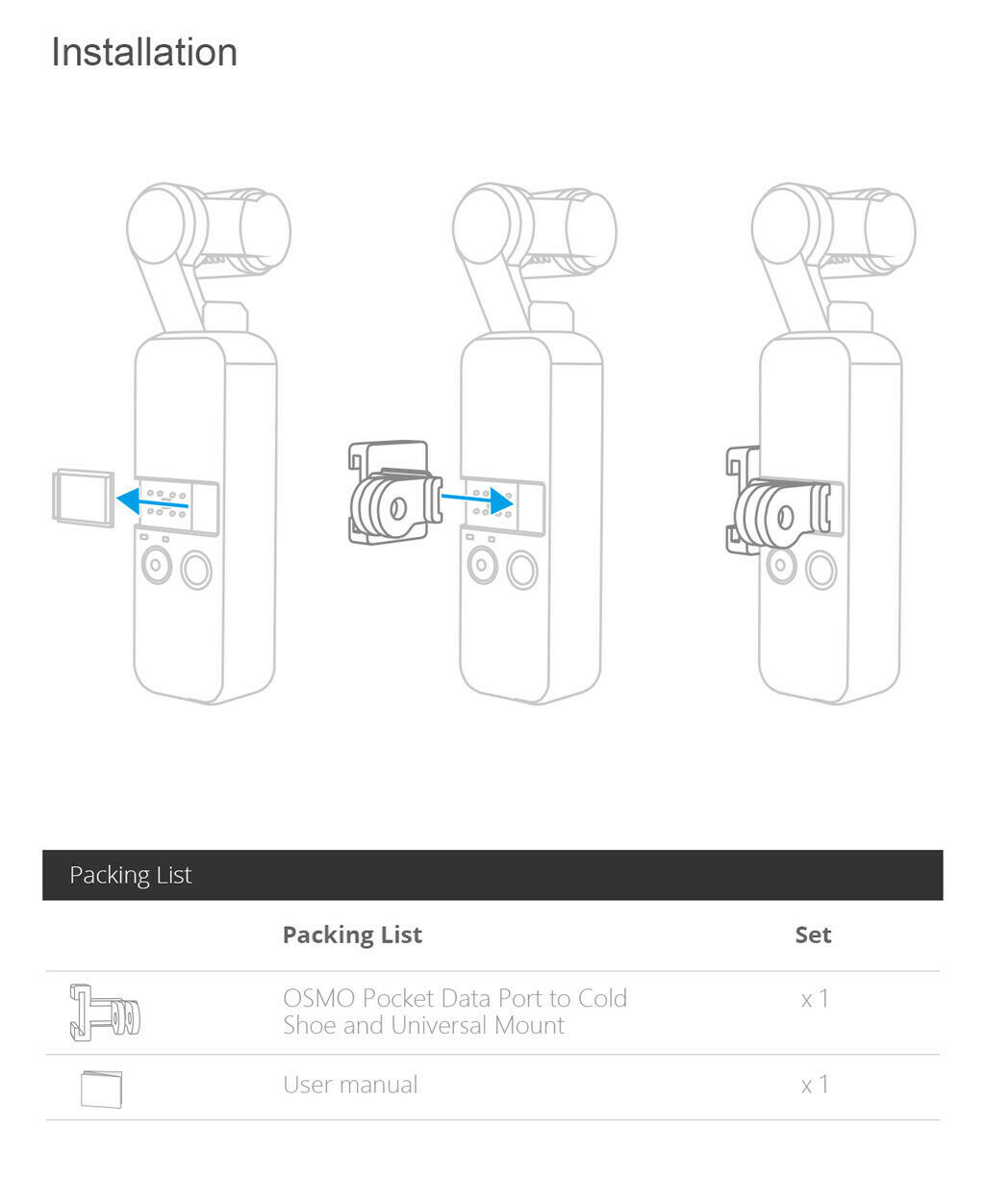Pgytech Osmo Pocket Data Port To Cold Shoe Universal Mount Adapter Expansion Accessories For Dji